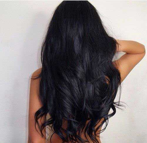 Pretty Girls negro con el pelo largo-16