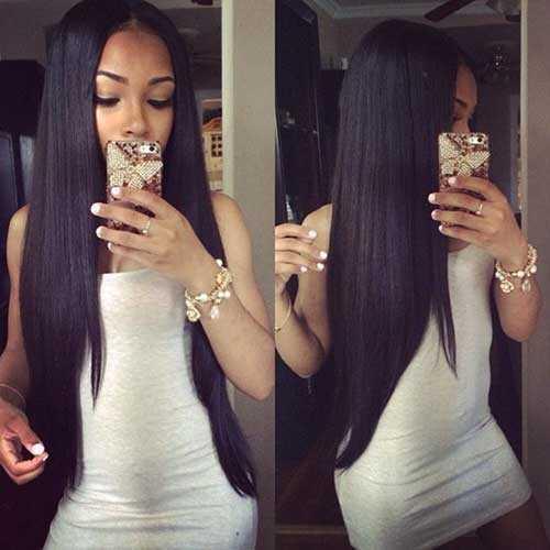 Los peinados para niñas negras con pelo largo-18