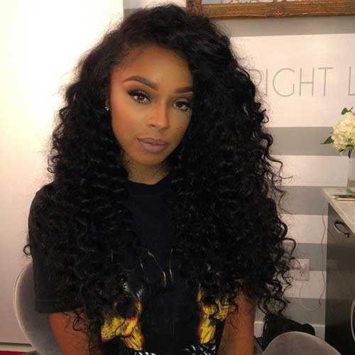 Pretty Girls negro con el pelo largo-17