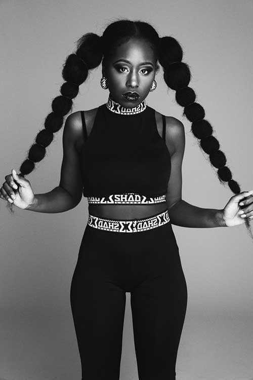 Pretty Girls negro con el pelo largo-18