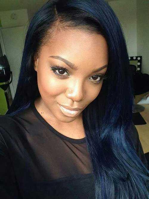 Los peinados para niñas negras con pelo largo-22