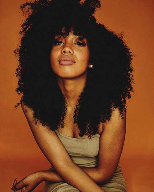 Los peinados para niñas negras con pelo largo-23