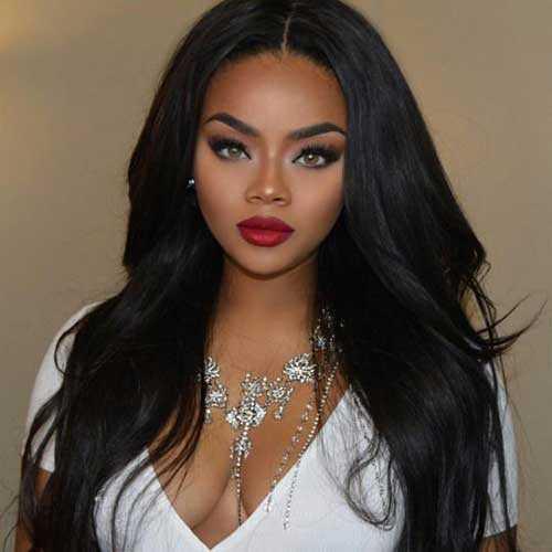Pretty Girls negro con el pelo largo-22