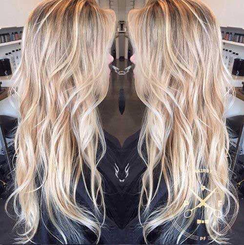Cortes de pelo para el pelo rubio largo-22