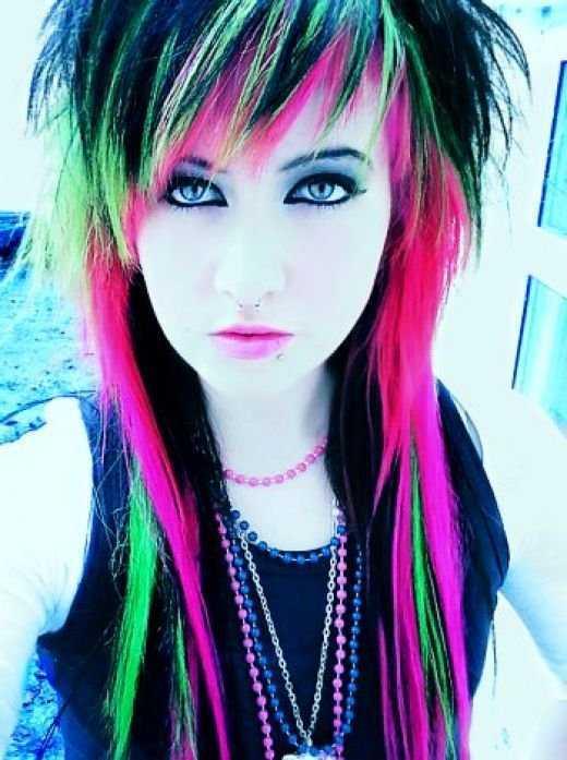punk corto peinados