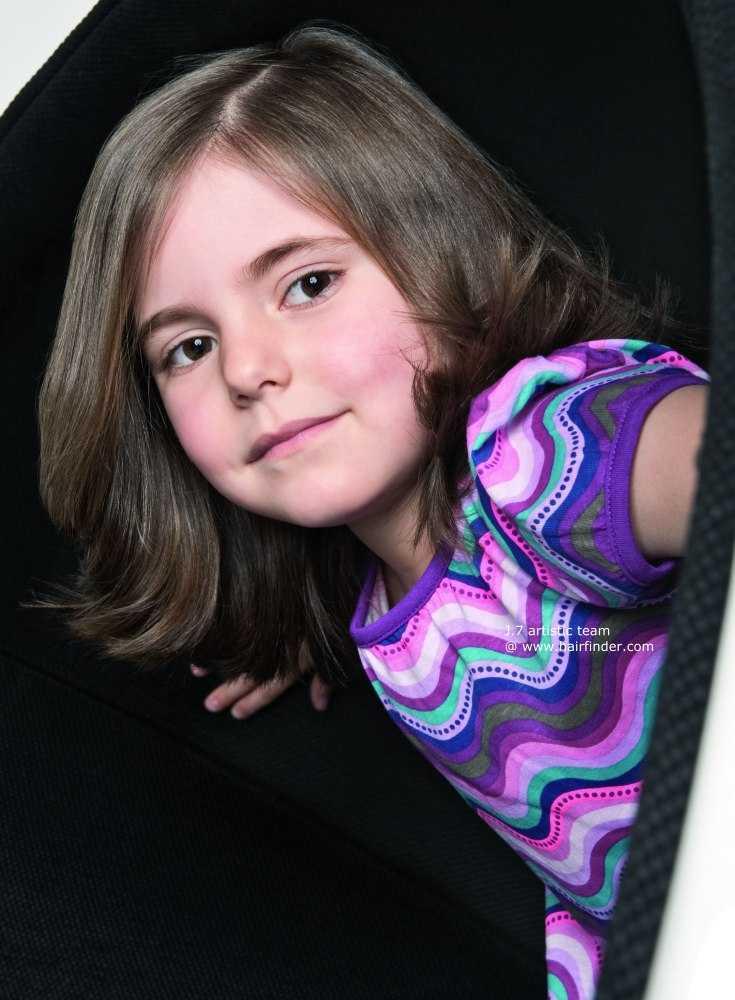 cortes de pelo de longitud media para los niños