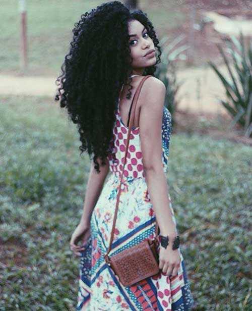 Pretty Girls negro con el pelo largo-6