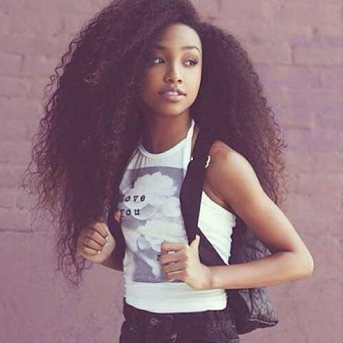 Pretty Girls negro con el pelo largo-8