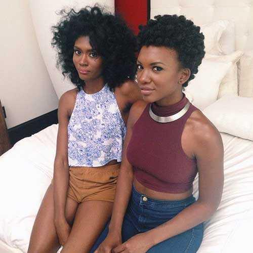 African pelo de las mujeres