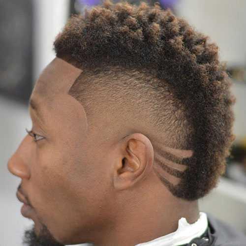 Negro Hombres peinados Mohawk