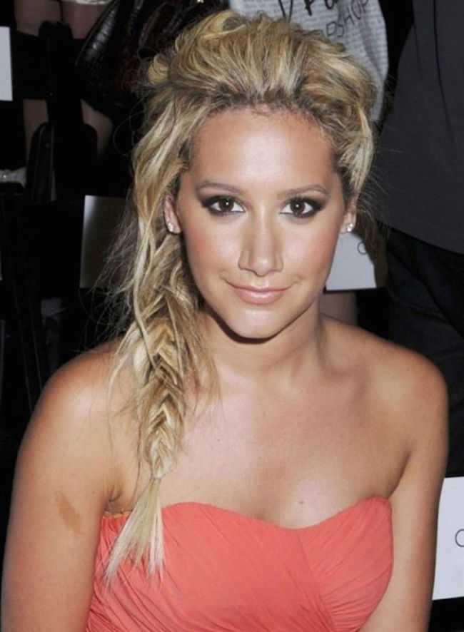 linda Celebrity peinados trenzadas
