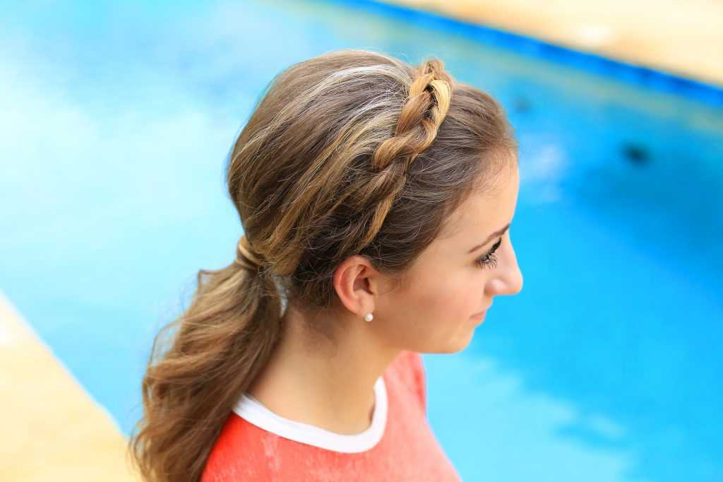 Twisted Rope con banda de chicas lindas | peinados