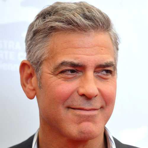 George Clooney corte de pelo - Peine Over