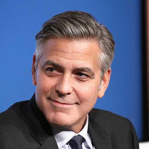George Clooney Peinado - Cabello gris
