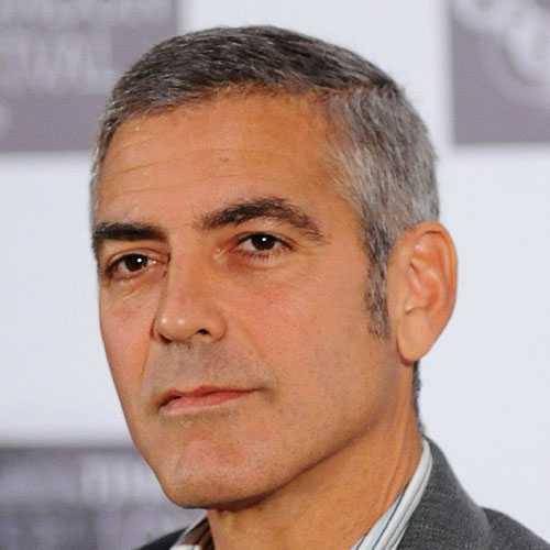 George Clooney Cabello corto