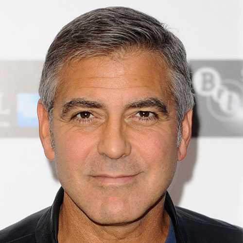 George Clooney corte de pelo corto para los hombres