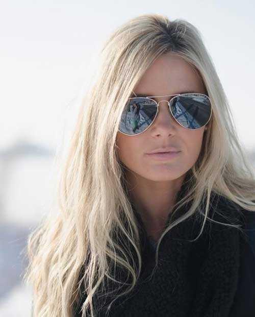 Platinum Blonde peinados con ondas