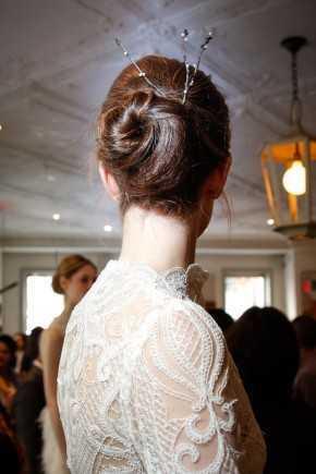 Lela Rose primavera de 2016. Los peinados de boda