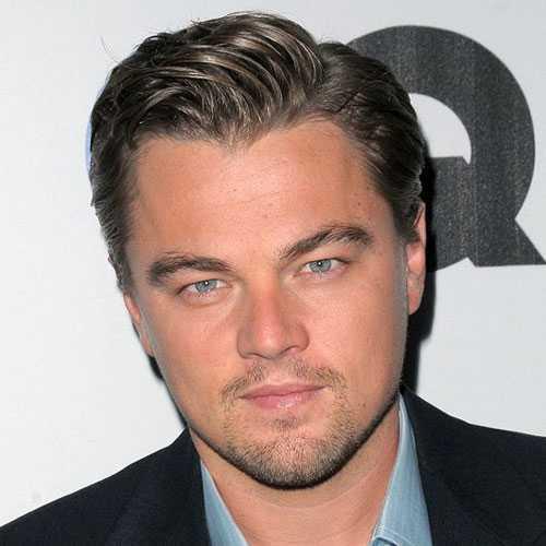Leonardo DiCaprio corte de pelo - Side Parted pelo
