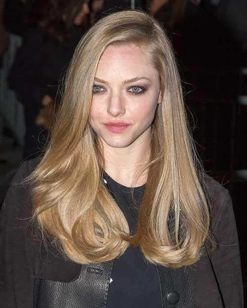Corte de pelo rubio largo