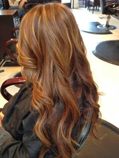 Strawberry Blonde ondulado peinados