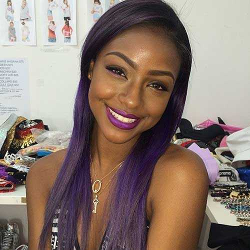 Los peinados para niñas negras con pelo largo-7
