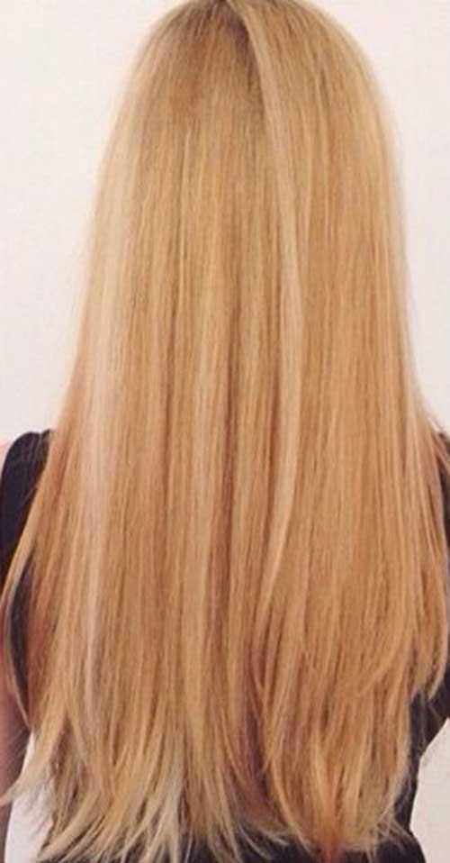 Long Strawberry Blonde recto peinados