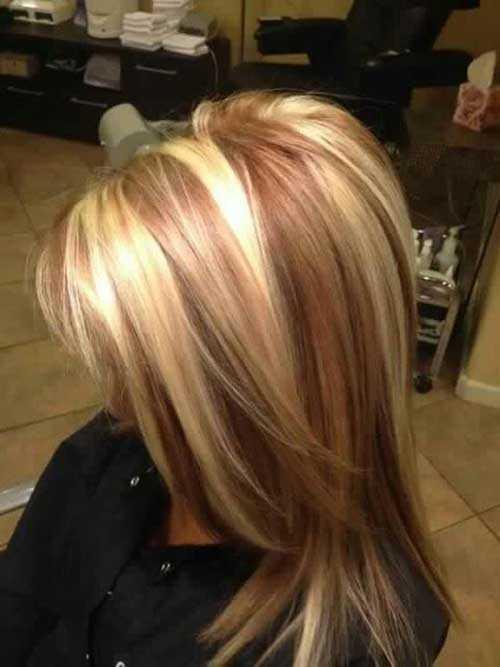 largo magnífico rubios de la fresa peinados