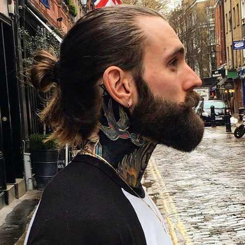 Manly Barba - Cola de caballo hombre con la barba