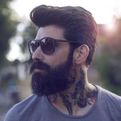 Manly Peinado - de longitud media con textura del pelo peinado hacia atrás