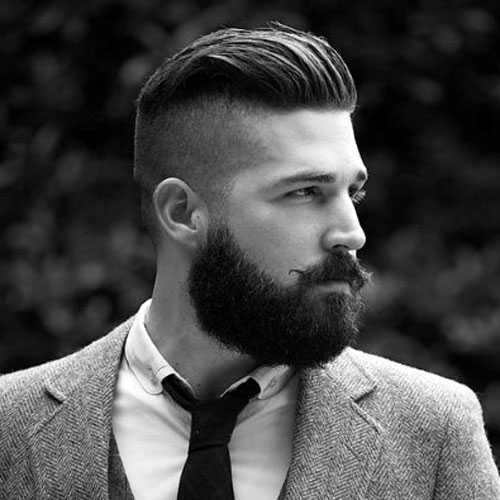 Manly peinados y barbas - Undercut con Slick Back y Barba corta