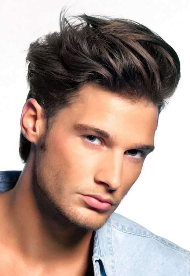 pelo corto en capas para hombre