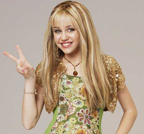 Miley Cyrus medio largo Estilos Straight Hair