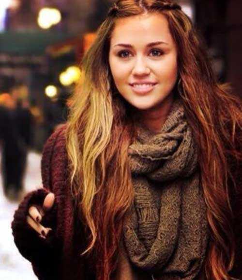 Miley Cyrus rectas Estilos de pelo de cola de caballo