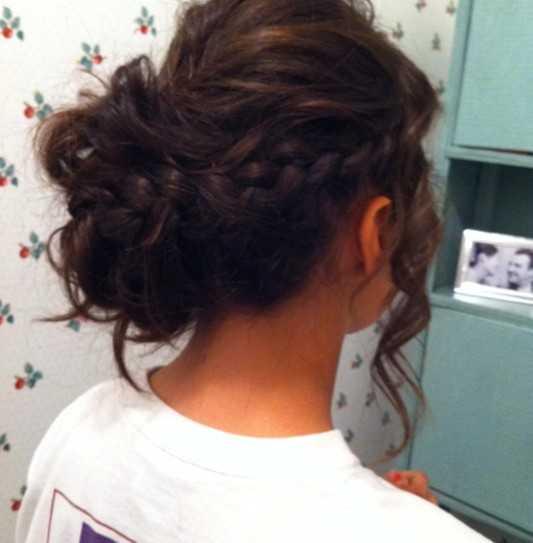 Prom-peinados-para-Long-pelo-trenzado-Updo