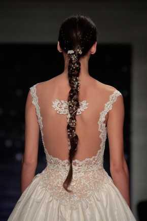 2016 de boda peinados Reem Acra primavera 1
