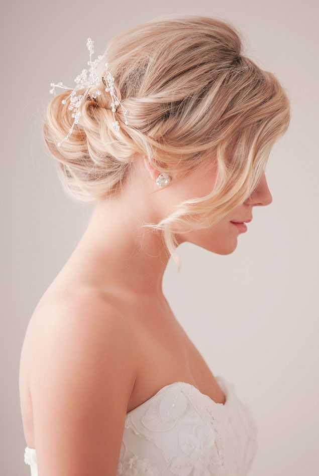 románticos de la trenza de boda peinados