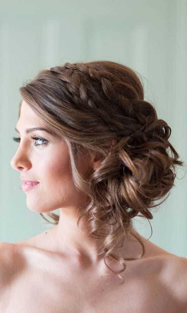 románticos Morena boda peinados