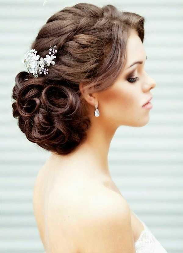 románticos rizos peinados de boda
