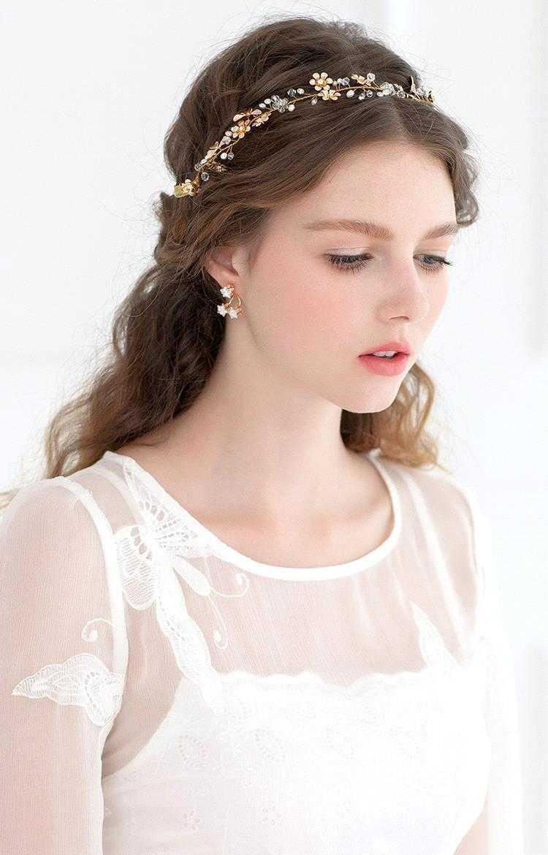romántico de la boda de la vendimia peinados