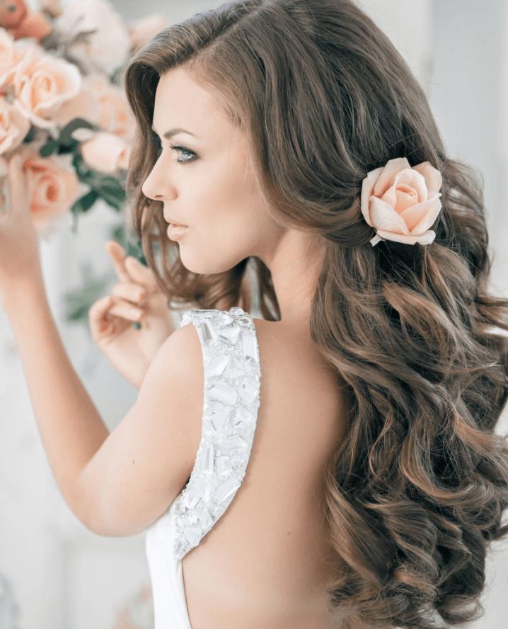 olas románticos peinados de boda