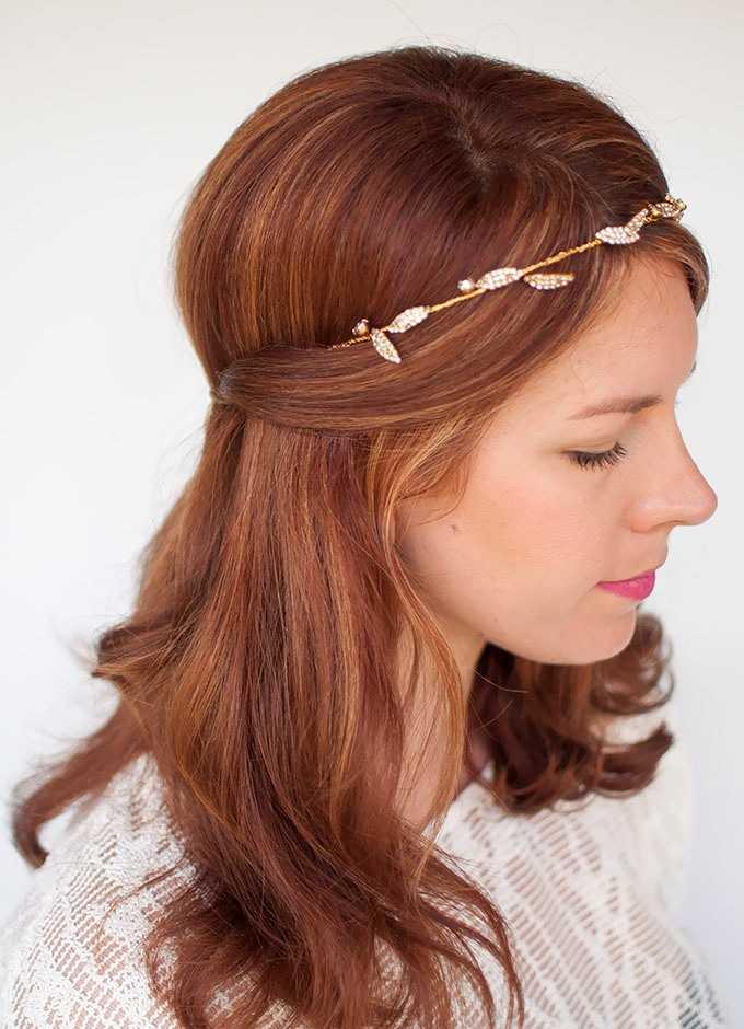 peinados romántica boda con diadema