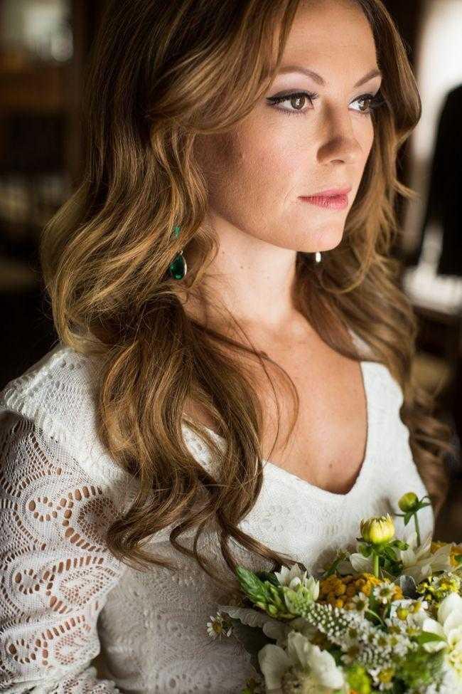 romántico de la boda del invierno peinados