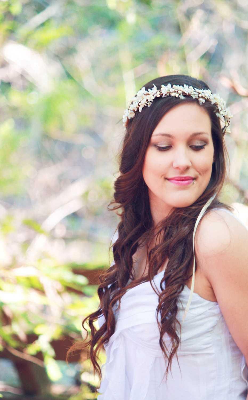Los peinados de boda rústico con Celada
