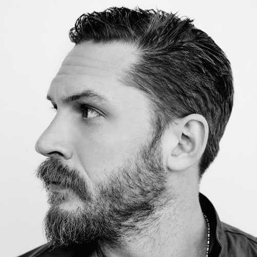 Tom Hardy de cabellos y barba