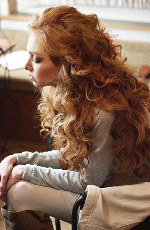 estilo largo rubios de la fresa peinados vintage
