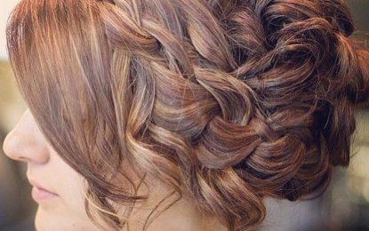 Glamorosa y hermosa Prom Updo para el pelo largo