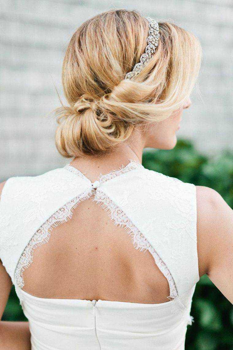 moños modelo peinado de la boda