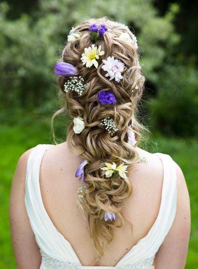 lo cabellera suelta boda coiffre mujer