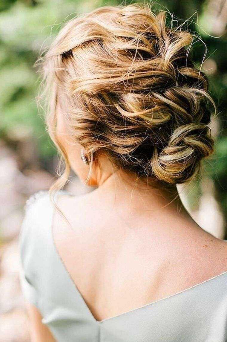 boda moños trenzas de pelo